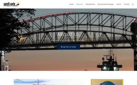 Screenshot of About Page saultstemarie.org - About Us | Sault Ste Marie Chamber of Commerce - captured May 29, 2018