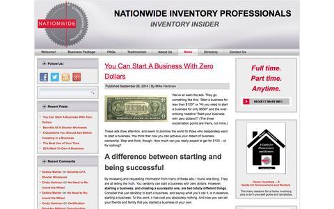 Screenshot of Press Page nationwideinventoryprofessionals.com - Inventory Insider  | Nationwide Inventory Professionals - captured Oct. 7, 2014