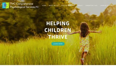 Screenshot of Home Page nycpsychologicalservices.com - NYC Comprehensive Psychological Services - Dr. Karen Caraballo | Brooklyn NY - captured Oct. 6, 2014