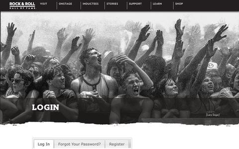 Screenshot of Login Page rockhall.com - Rock & Roll Hall of Fame | Login - captured June 27, 2017