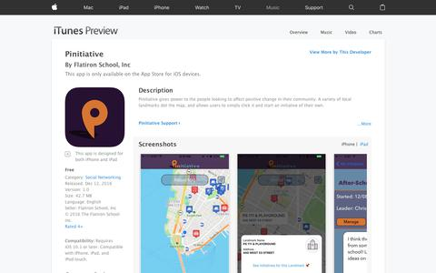 Pinitiative on the App Store