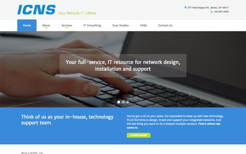 Screenshot of Home Page icnsinc.com - Network Design, Installation | IT Support | ICNS - captured Sept. 29, 2015