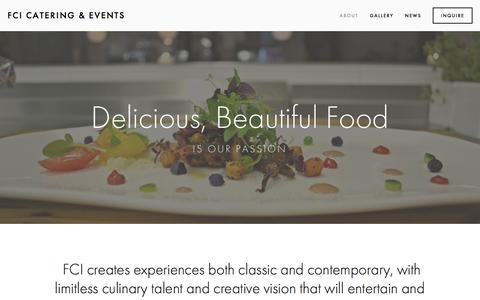 Screenshot of About Page fcievents.com - About — FCI Catering & Events - captured Feb. 9, 2016