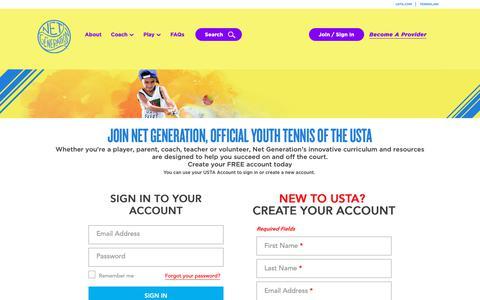 Screenshot of Signup Page usta.com - Registration - captured Oct. 21, 2018