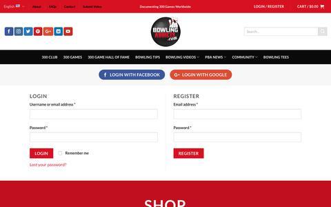 Screenshot of Login Page bowlingaddicts.com - My Account - - captured Aug. 3, 2018