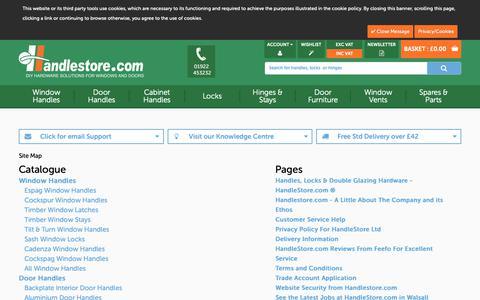 Screenshot of Site Map Page handlestore.com - HandleStore HTML Sitemap - captured Sept. 26, 2018