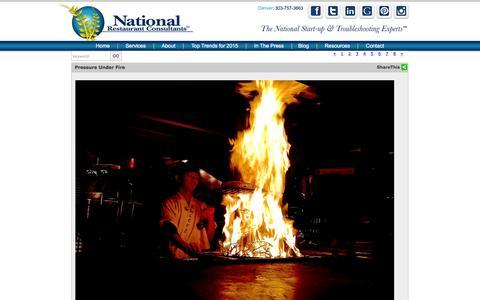 Screenshot of Blog restaurantconsulting.us - National Restaurant Consultants | Restaurant Consulting Blog - captured Feb. 13, 2016
