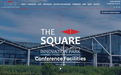 Screenshot of Home Page stjohns.co.uk - Home - St Johns Innovation Centre - captured Oct. 19, 2018