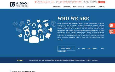 Screenshot of About Page aimaxprovider.com - We are #1 Web Development Company in Mumbai, India - Aimax Provider - captured Nov. 30, 2019