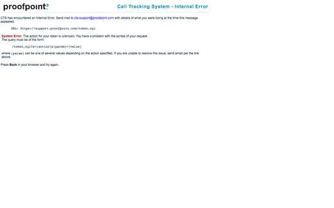 CTS - Internal Error