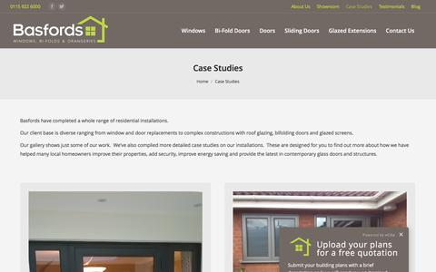 Screenshot of Case Studies Page basfords.com - Local Case Studies | Basfords - captured Nov. 22, 2016