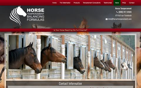 Screenshot of Press Page horsetemperament.com - Contact Information  | Horse Typing | Horse Temperament - captured Oct. 22, 2017
