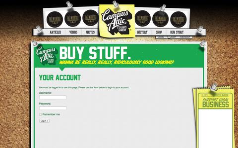 Screenshot of Login Page campusattic.com - Your Account | Campus Attic - captured Oct. 1, 2014