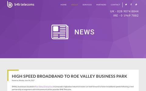 Screenshot of Press Page b4btelecoms.com - News - B4B Telecoms - captured July 23, 2018