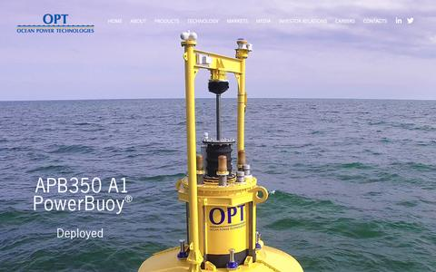 Screenshot of Home Page oceanpowertechnologies.com - Ocean Power Technologies - captured Dec. 4, 2015