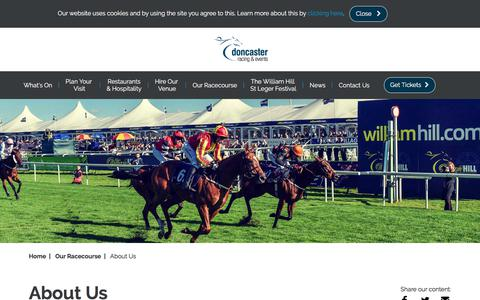 Screenshot of About Page doncaster-racecourse.co.uk - About us | Doncaster Racecourse - captured Sept. 23, 2018