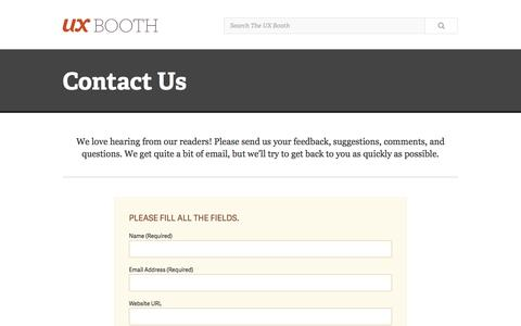 Contact Us | UX Booth