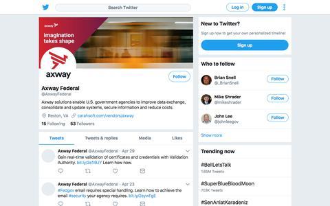 Tweets by Axway Federal (@AxwayFederal) – Twitter