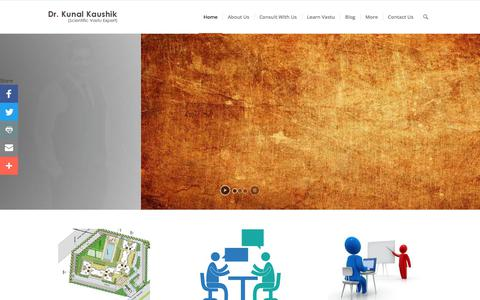 Screenshot of Home Page kunalvastu.com - Vastu Consultant - Vastu Expert - Best Vastu Consultant ( 9871117222 ) - captured Sept. 20, 2018