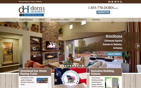 Screenshot of Home Page dornhomes.com - Dorn Homes - Prescott Home Builder - captured Sept. 30, 2014