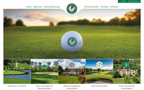 Screenshot of Home Page leading-golf.de - Leading Golf Courses:Home - captured Jan. 28, 2017