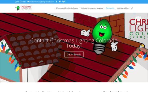 Screenshot of Contact Page christmaslightingcolorado.com - Contact Us Today! | Christmas Lighting Colorado - captured July 30, 2018