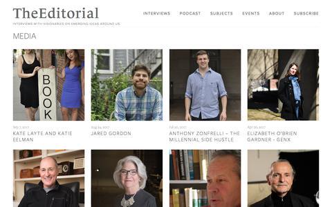Screenshot of Press Page theeditorial.com - MEDIA — TheEditorial - captured Nov. 17, 2017