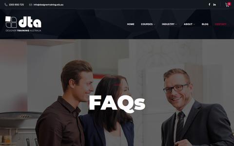 Screenshot of FAQ Page designertraining.edu.au - FAQs – Designer Training Australia - captured Aug. 6, 2018