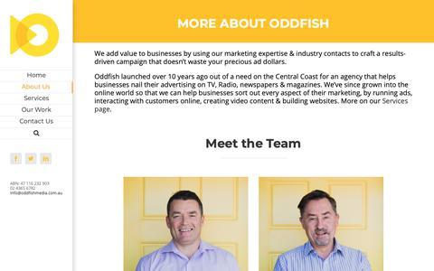 Screenshot of About Page oddfishmedia.com.au - About Us   Oddfish Media - captured Oct. 19, 2018