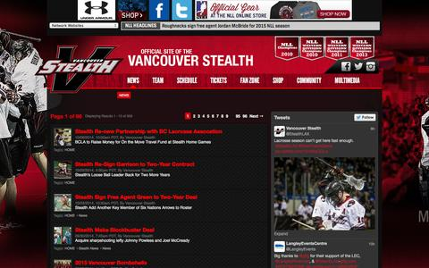 Screenshot of Press Page stealthlax.com - News - captured Oct. 7, 2014