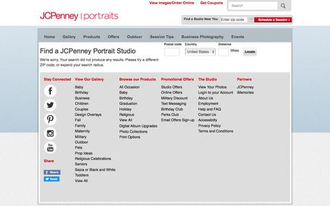 Screenshot of Locations Page jcpportraits.com - Store Locator | JCPenney Portraits - captured Sept. 23, 2017