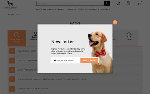 Screenshot of FAQ Page headsupfortails.com - FAQs - captured Feb. 28, 2018