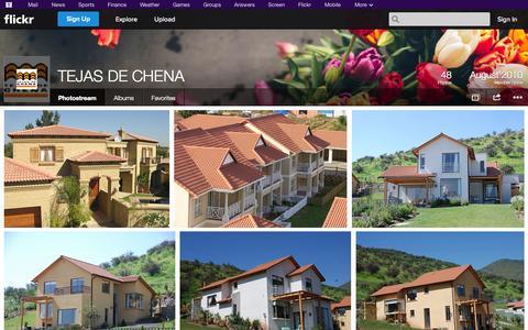 Screenshot of Flickr Page flickr.com - Flickr: TEJAS DE CHENA's Photostream - captured Oct. 25, 2014