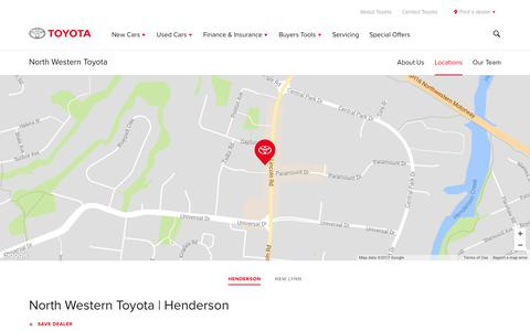 Screenshot of Locations Page toyota.co.nz - North Western Toyota | Henderson - Toyota NZ - captured Nov. 4, 2017