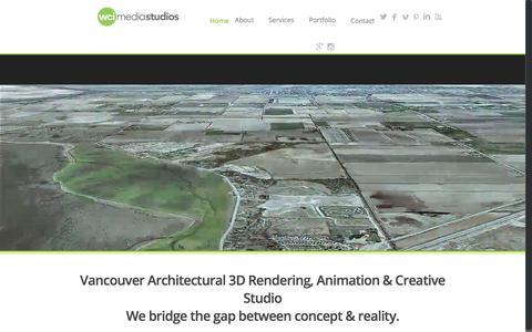 Screenshot of Home Page wcimediastudios.com - WCI Media Studios | Vancouver Architectural 3D Rendering, Animation & Creative Studio - captured June 11, 2017
