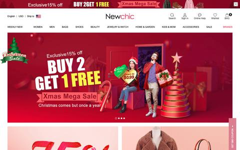 Screenshot of Home Page newchic.com - Newchic - Fashion Chic Clothes Online, Discover The Latest Fashion Trends - captured Dec. 5, 2018