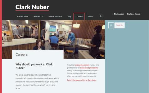 Screenshot of Jobs Page clarknuber.com - Careers - captured Sept. 29, 2014