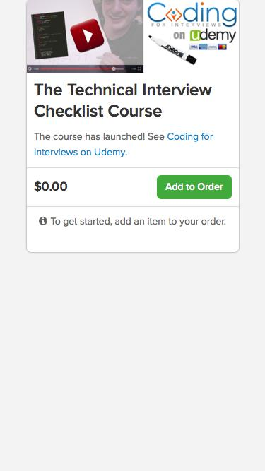 The Technical Interview Checklist Course | Celery