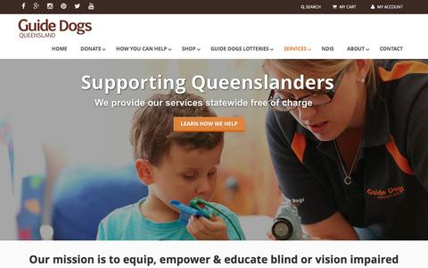 Screenshot of Services Page guidedogsqld.com.au - Services - Guide Dogs Queensland - captured Nov. 16, 2016