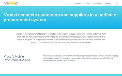 Screenshot of Jobs Page vroozi.com - Company | E-Procurement System | Vroozi - captured Aug. 10, 2019