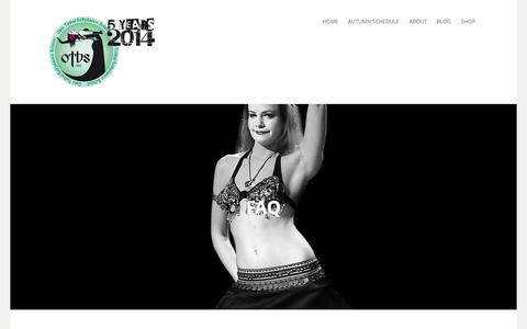 Screenshot of FAQ Page otbs.no - FAQ | Oslo Tribal Bellydance School - captured Oct. 26, 2014