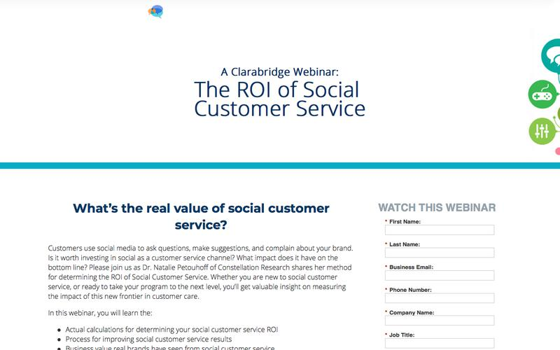 Webinar: The ROI of Social Customer Service