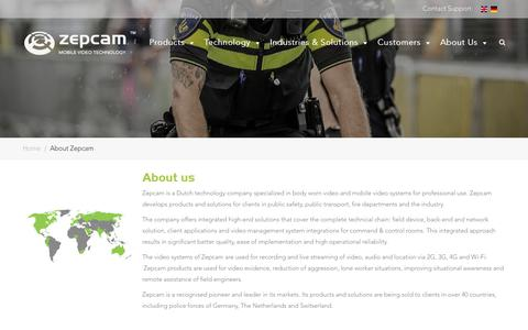 Screenshot of About Page zepcam.com - About Zepcam - Zepcam - captured June 12, 2019