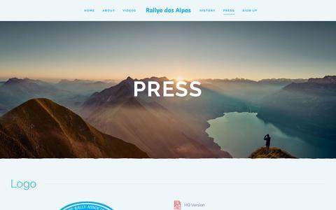 Screenshot of Press Page rallyedesalpes.com - Press - captured Oct. 19, 2018