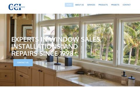 Screenshot of Home Page cciwindows.com - CCI the Window Company – Serving Hawaii for Over 30 Years - captured Sept. 16, 2017