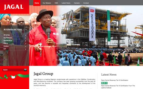 Screenshot of Home Page jagal.com - Jagal Group | Jagal - captured Oct. 3, 2014