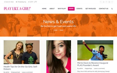 Screenshot of Press Page iplag.org - Play Like A Girl!® |   News - captured Oct. 2, 2014