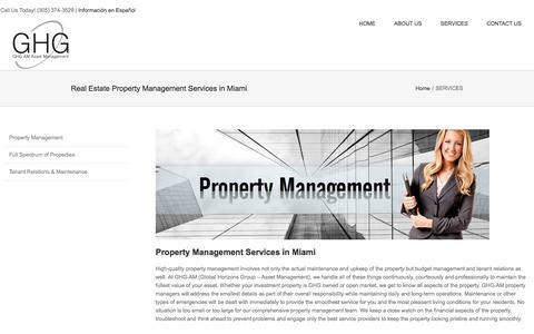 Screenshot of Services Page ghg-am.com - Commercial & Residential Property Management Company Miami - captured Feb. 16, 2018