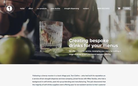Screenshot of Case Studies Page thinkdrinks.co.uk - Case Studies Archive - Think Drinks - captured Sept. 21, 2018