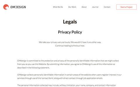 Legals - OMdeSIGN Studio